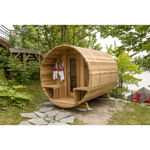 Dundalk Leisure Clear Red Cedar Barrel Sauna