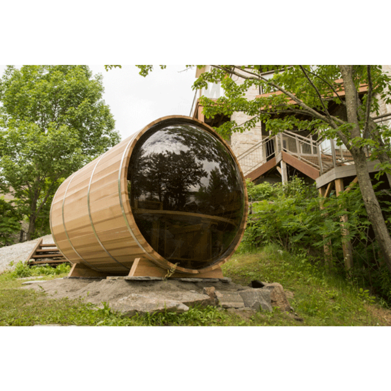 Dundalk Leisure Craft Panoramic View Cedar Barrel Sauna