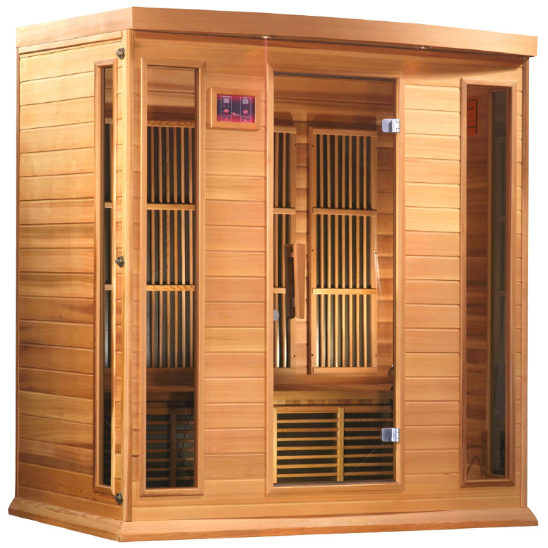 MX-K406-01 Maxxus Low EMF FAR Infrared Sauna Canadian Red Cedar - My Sauna World