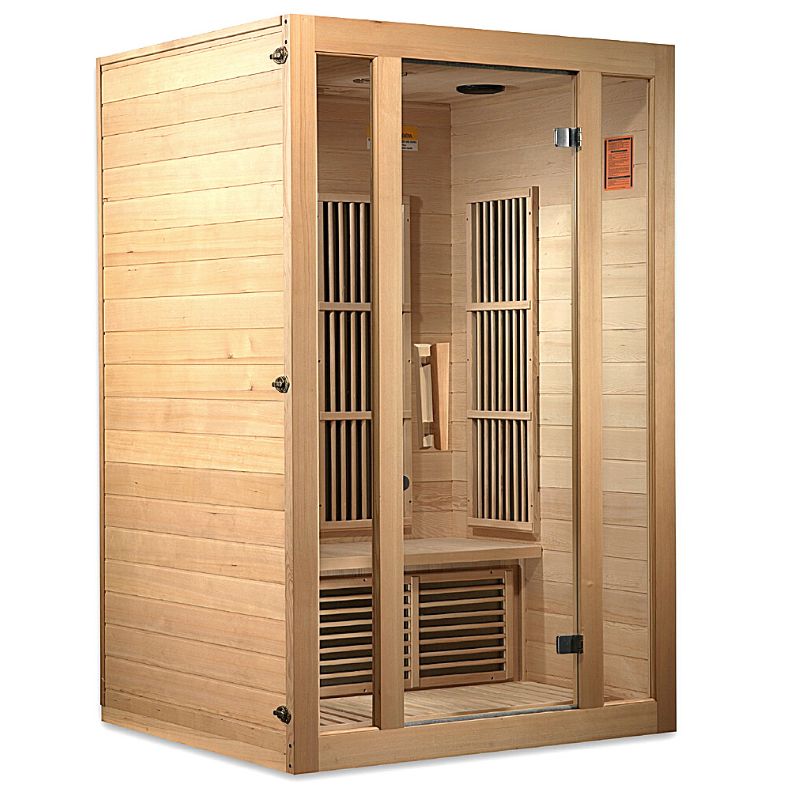 "Maxxus ""Seattle"" 2 person Low EMF FAR Infrared Sauna Canadian Hemlock"