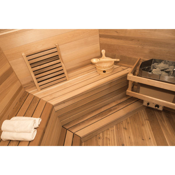 Dundalk Leisure Craft Outdoor Red Cedar Kota Sauna - My Sauna World