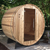Almost Heaven Watoga 4-Person Standard Barrel Sauna with Himalayan Salt Wall + Accessories Deluxe Package