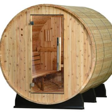 Almost Heaven Fayette 6-Person Barrel Sauna - My Sauna World