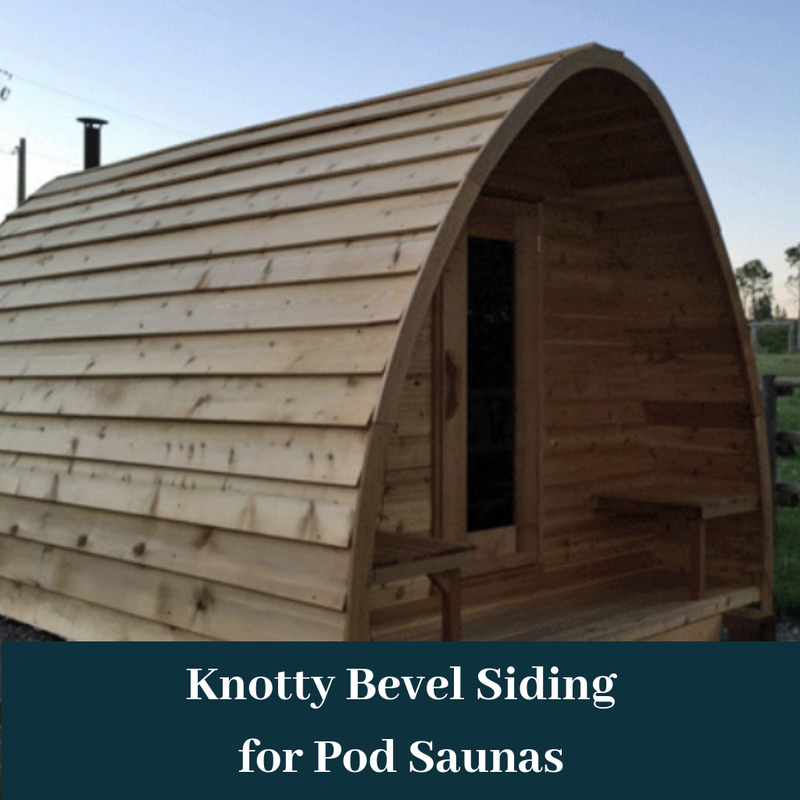 Dundalk Leisurecraft Knotty Cedar POD Sauna with 2' Porch, Bevel Siding, & 2 Front Windows