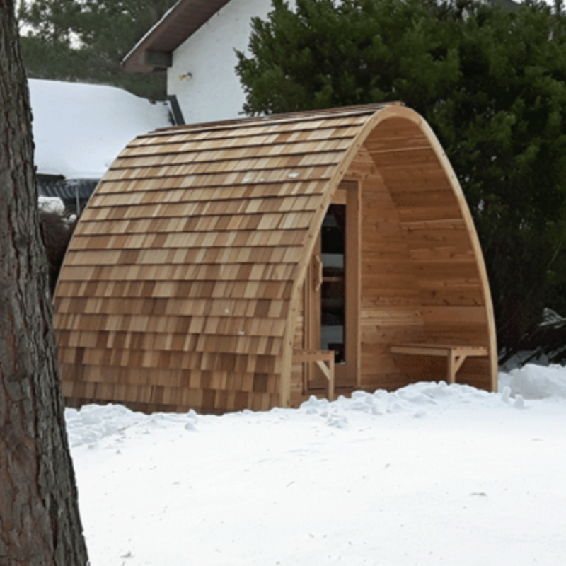 Dundalk Leisure Craft Knotty Cedar POD Sauna
