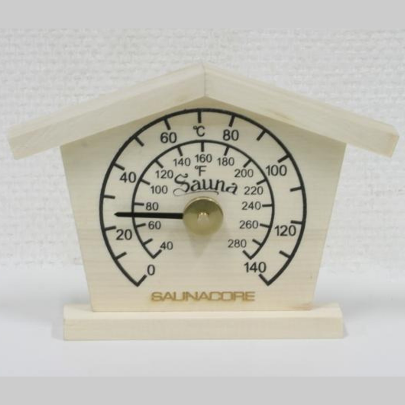 Saunacore Wooden Cottage Thermometer - My Sauna World