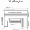Worthington Measurement - My Sauna World