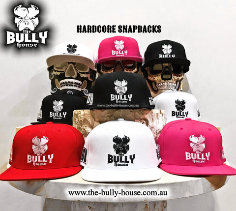 -BEANIES- by -THE BULLY HOUSE- GREY/WHITE print (heavy duty)