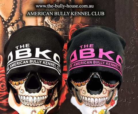 -BEANIES- by -THE BULLY HOUSE- K9 MAFIA - PINK/WHITE