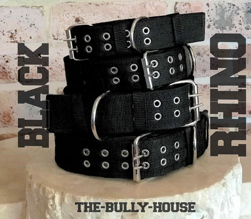 GAME TIGHT - BLACK RHINO DOG COLLARS - HEAVY DUTY EXTREME