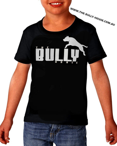 The Bully House - Kids T-SHIRT - FLURO GREEN Print