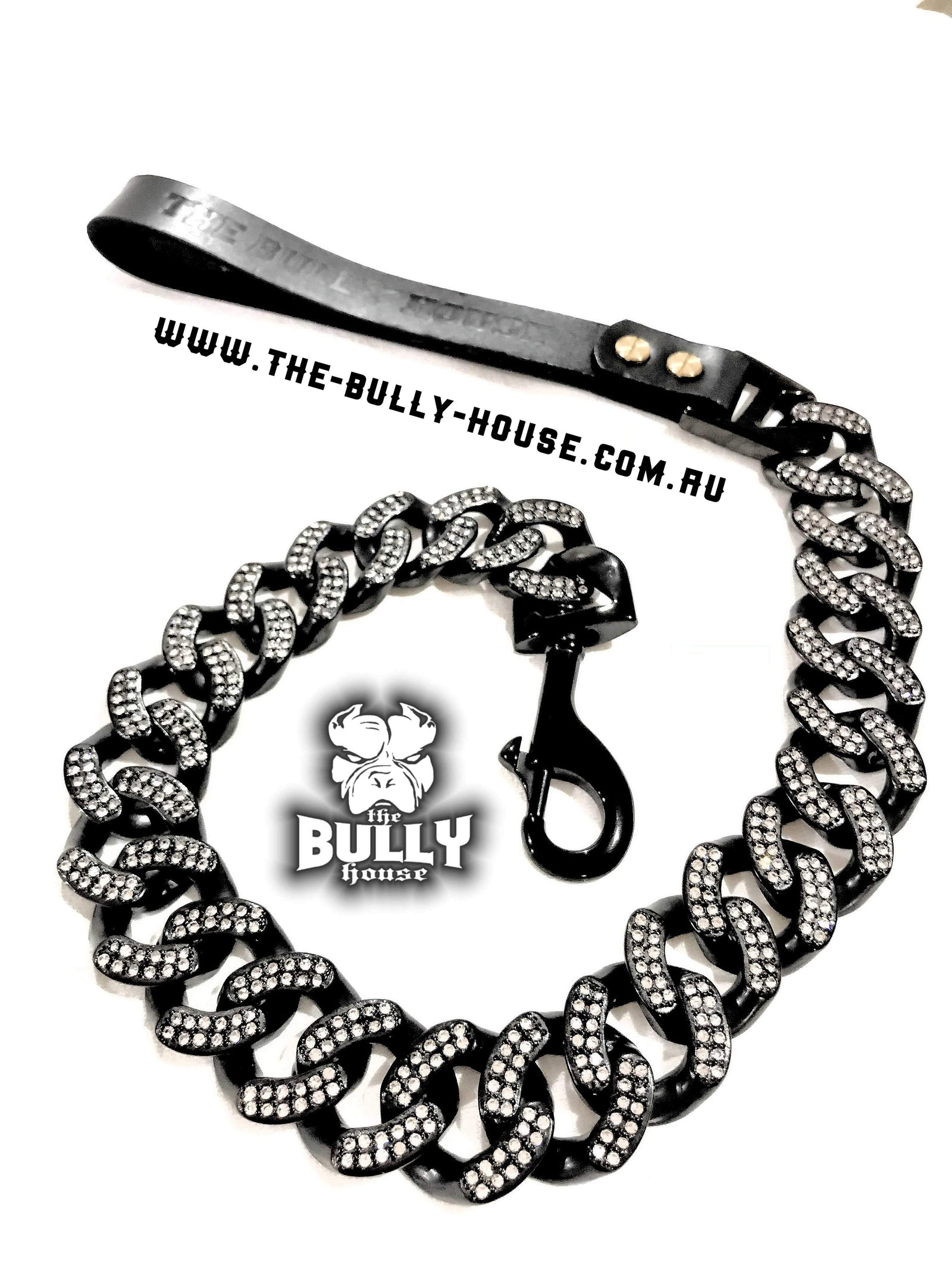 The Bully House - BLACK ICED OUT KING - LEASH - (Free Post in Aust)