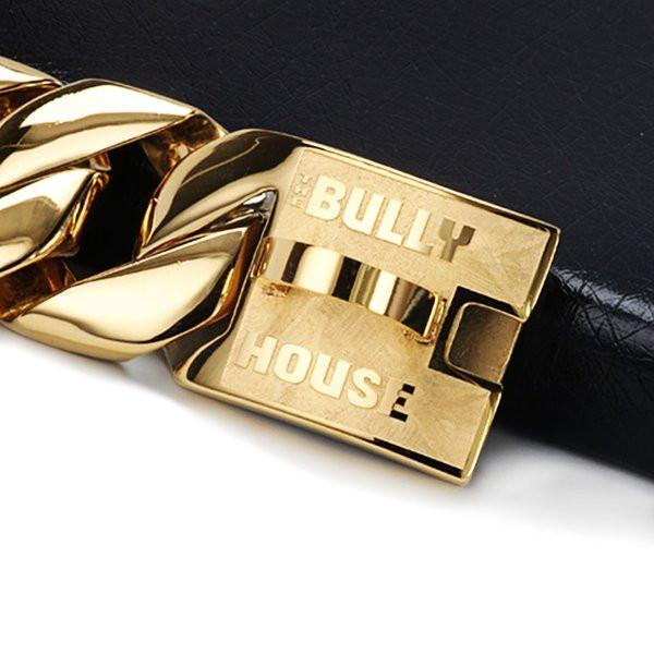 "The Bully House ""MONSTER CHAIN Collection"" GOLD -- 31mm Wide  (INCLUDES FREE EXPRESS POST)"