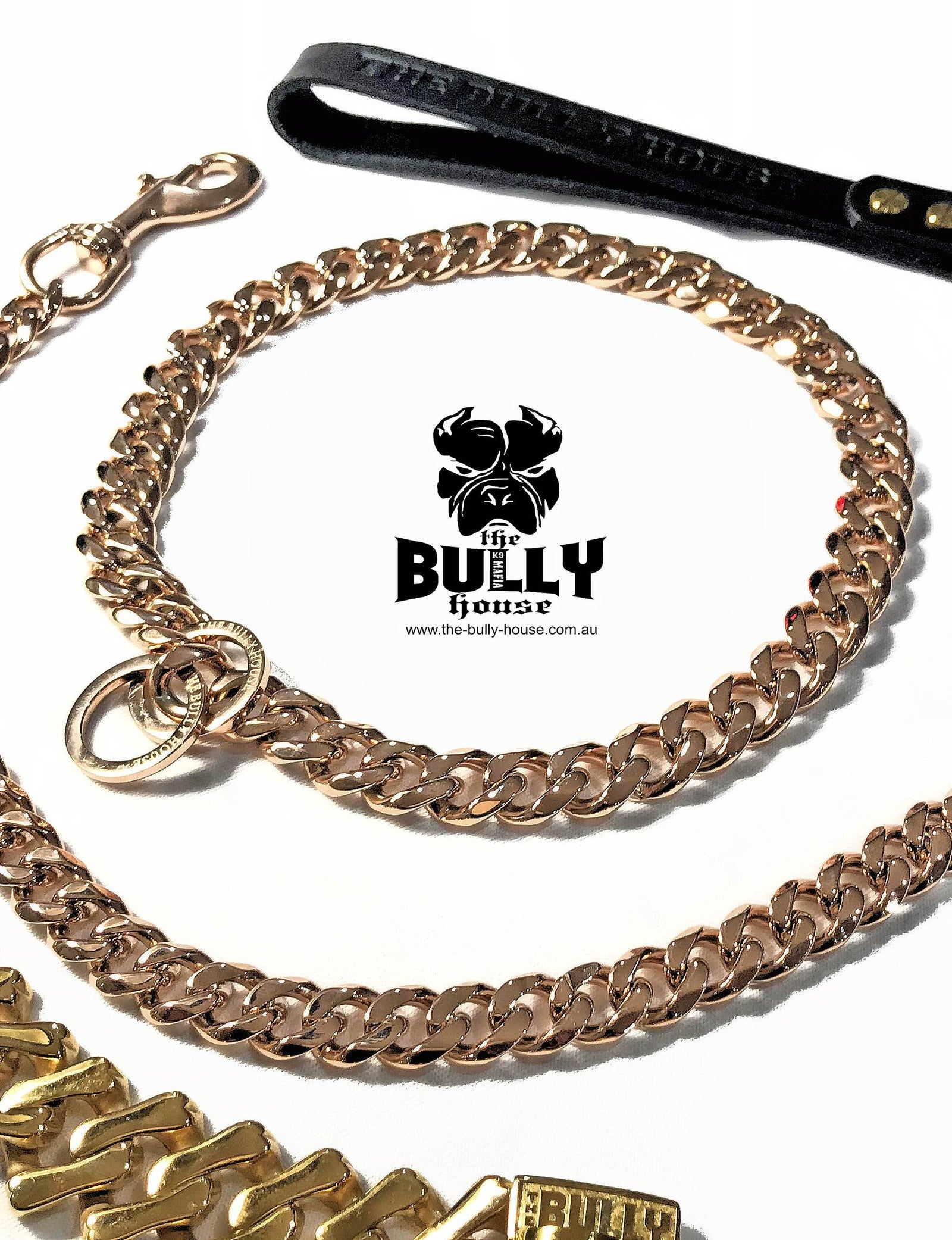 "The Bully House ""CHECK CHAIN Collection"" -  ROSE GOLD 20mm Wide"