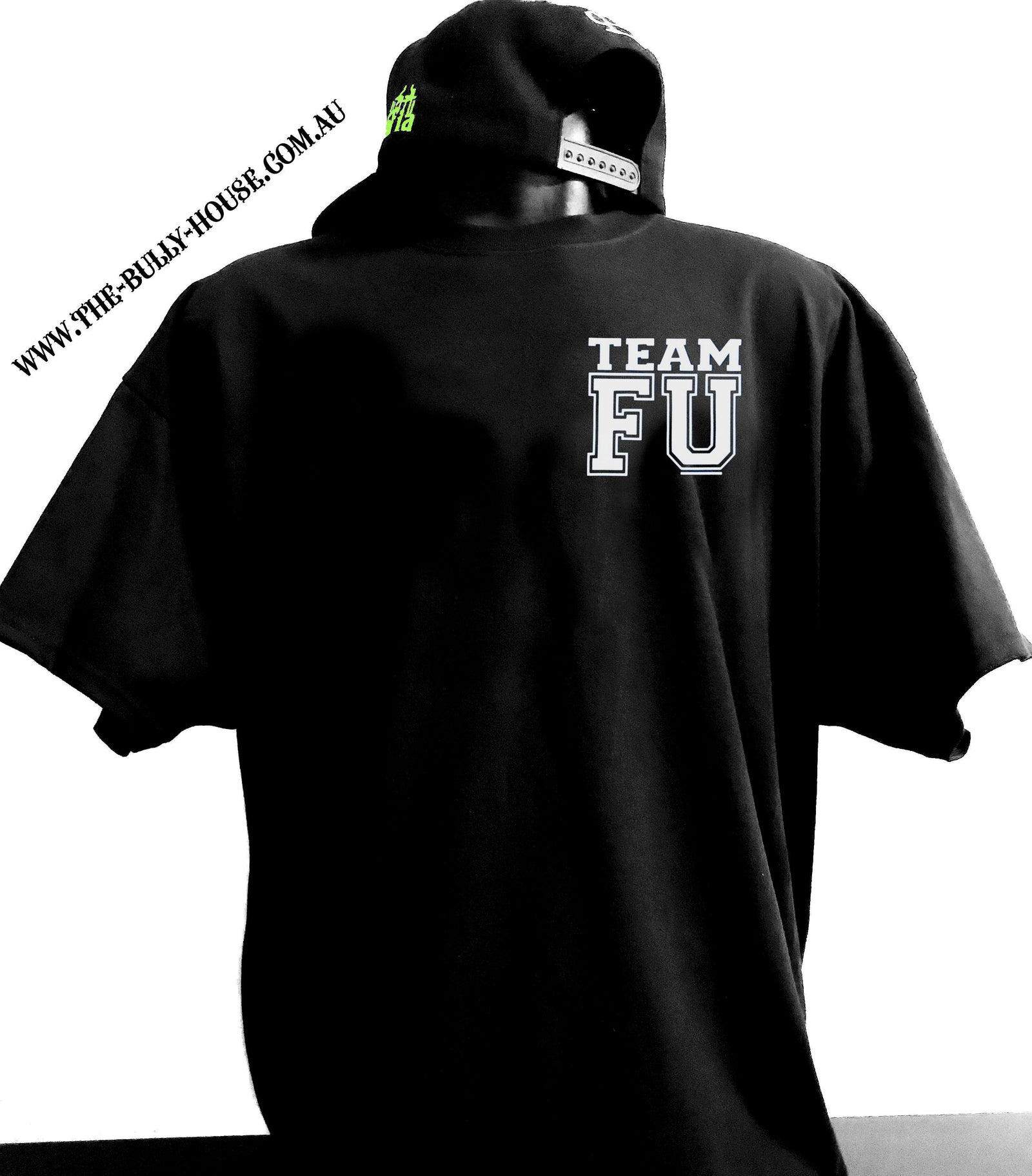 The Bully House -- TEAM FU -K9MAFIA -- T-Shirt - MENS  CUT // White Print