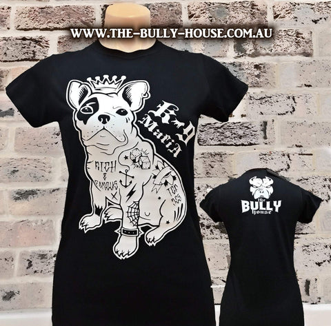 The Bully House -- MEDALLION -- T-Shirt - WOMENS CUT // Gold Print