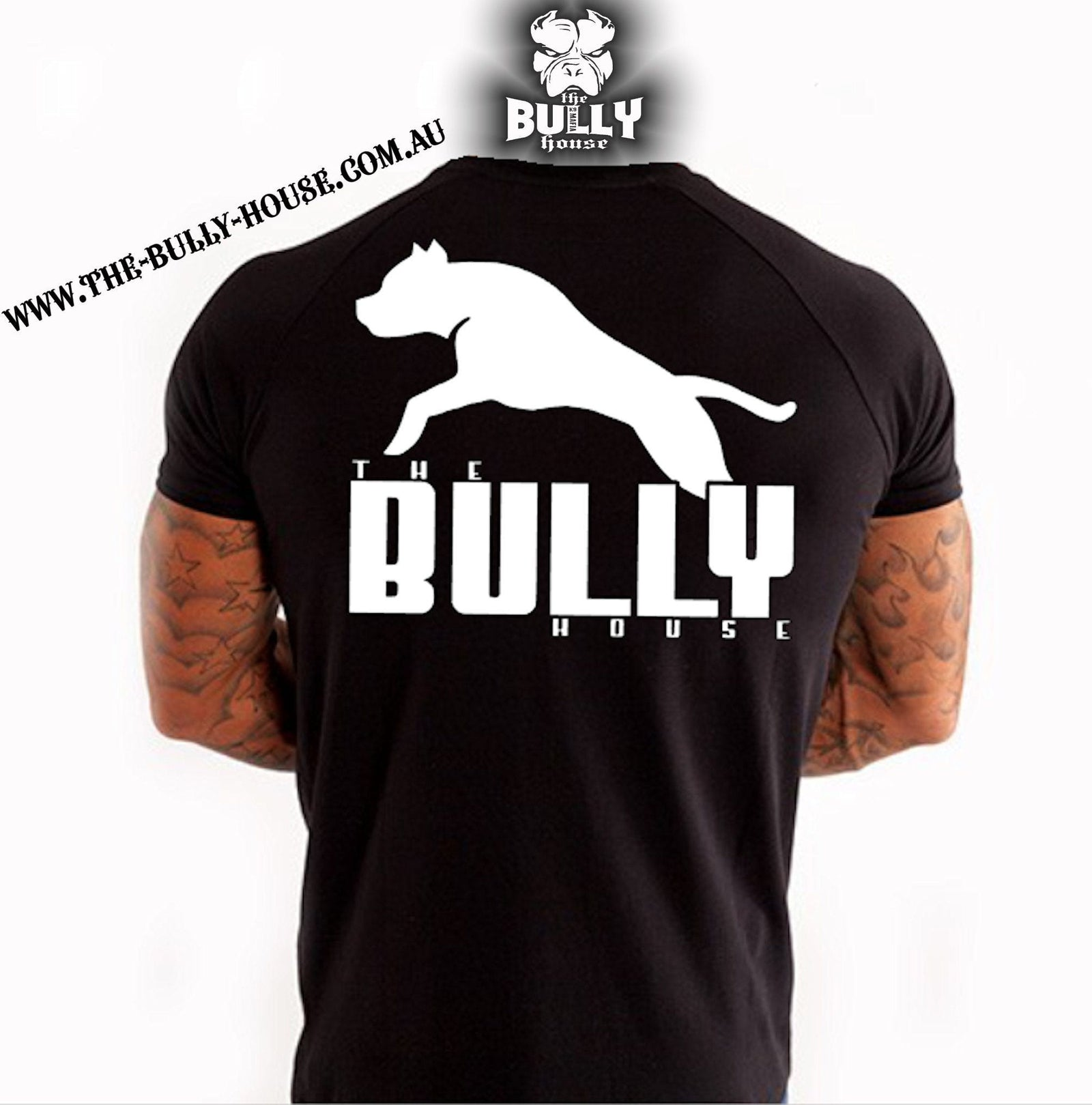 The Bully House -- INSPIRED NO.1 -- T-Shirt - MENS  CUT // White Print