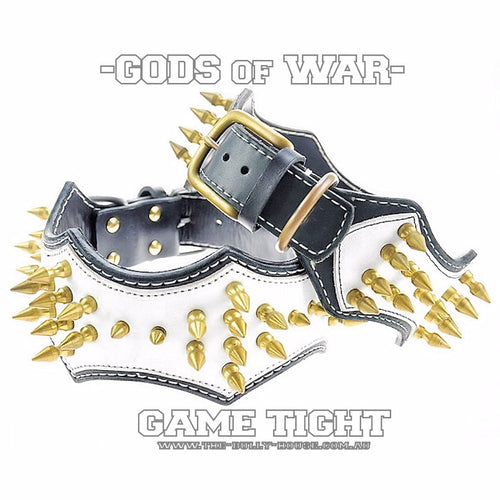 GODS of WAR - Italian Leather High Quality Hand Crafted - GAME TIGHT - DOG COLLAR