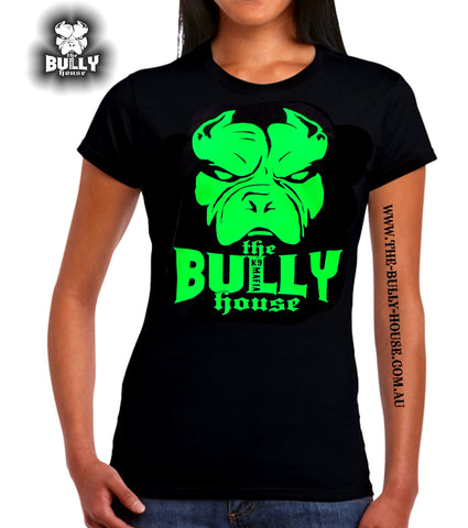 The Bully House - AOTEAROA - TATTOO T-Shirt - LADIES / SILVER CHROME HOT FOIL Print