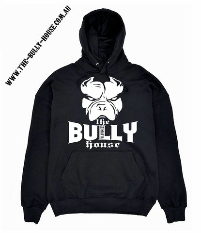 The Bully House -- white T-SHIRT (black print) - MENS  CUT