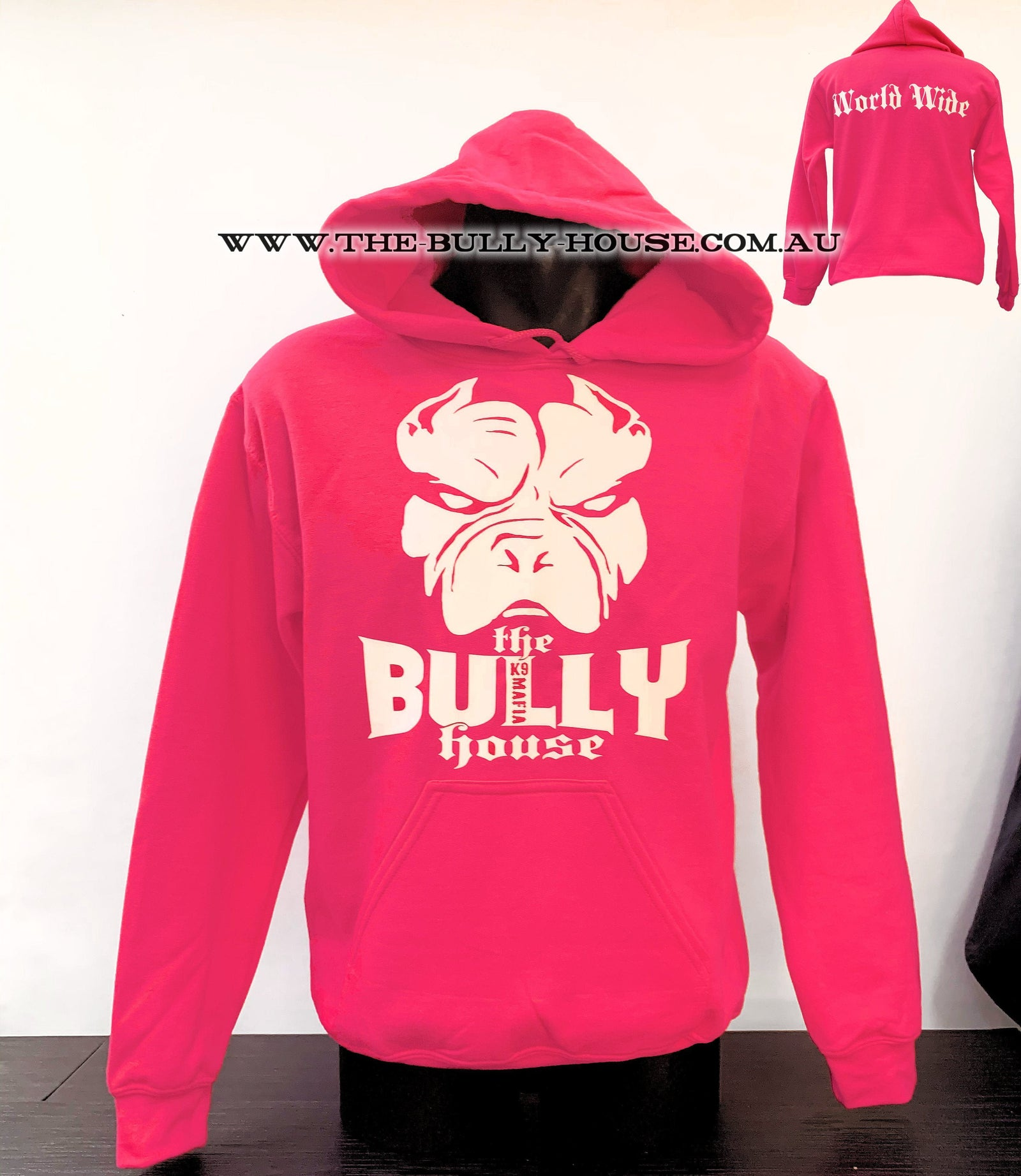 HOODIE original Hot Pink THE BULLY HOUSE