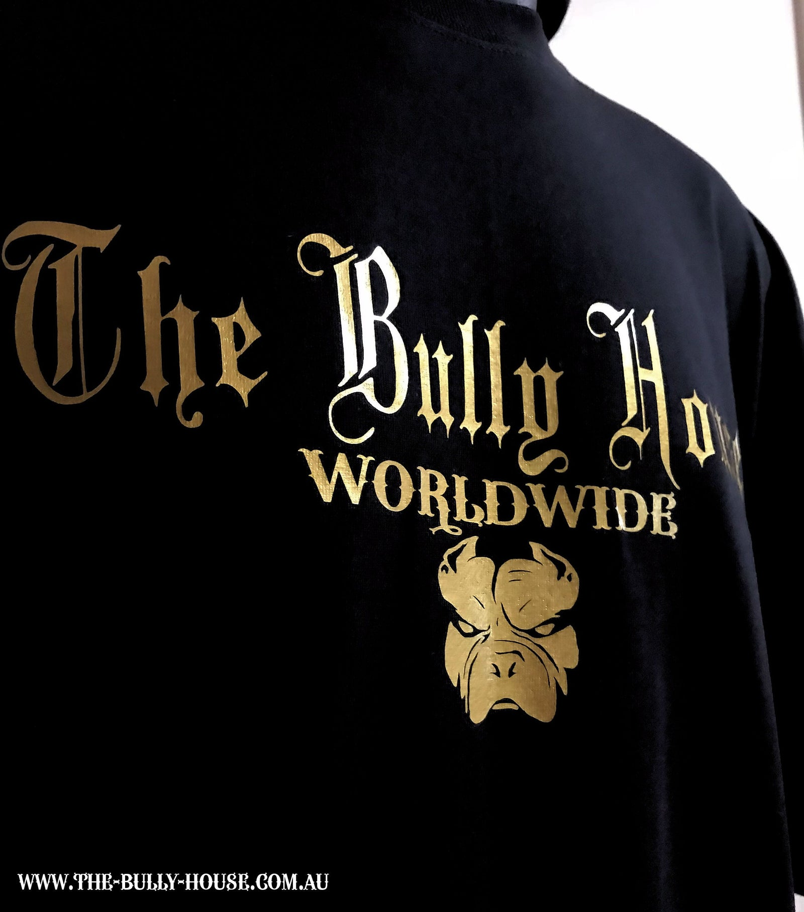 The Bully House -- MEDALLION -- T-Shirt - KIDS SIZE // Gold Print