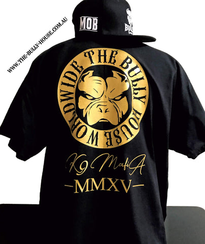 Straight Outta The Bully House - Kids T-SHIRT - COPPER Gold hot foil Print