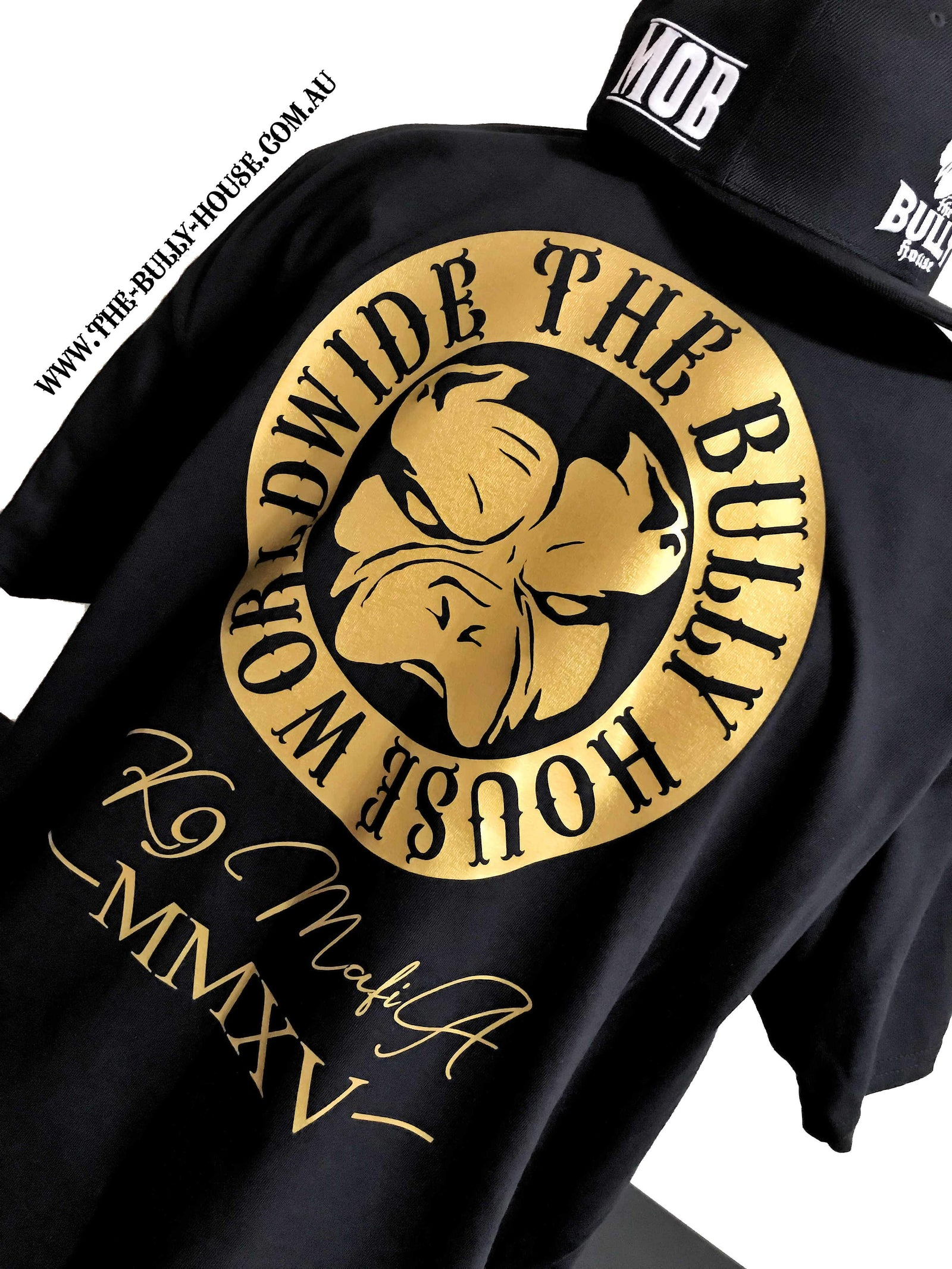 The Bully House -- MEDALLION -- T-Shirt - MENS  CUT // Gold Print