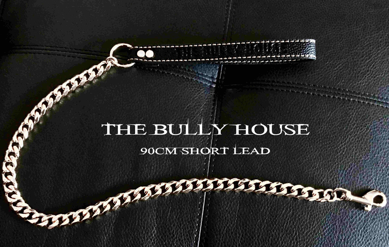 "The Bully House ""LEASH Collection"" SILVER 18mm Wide - 90CM !!!! PRE RESERVE NOW - LANDING SEPTEMBER !!!!"