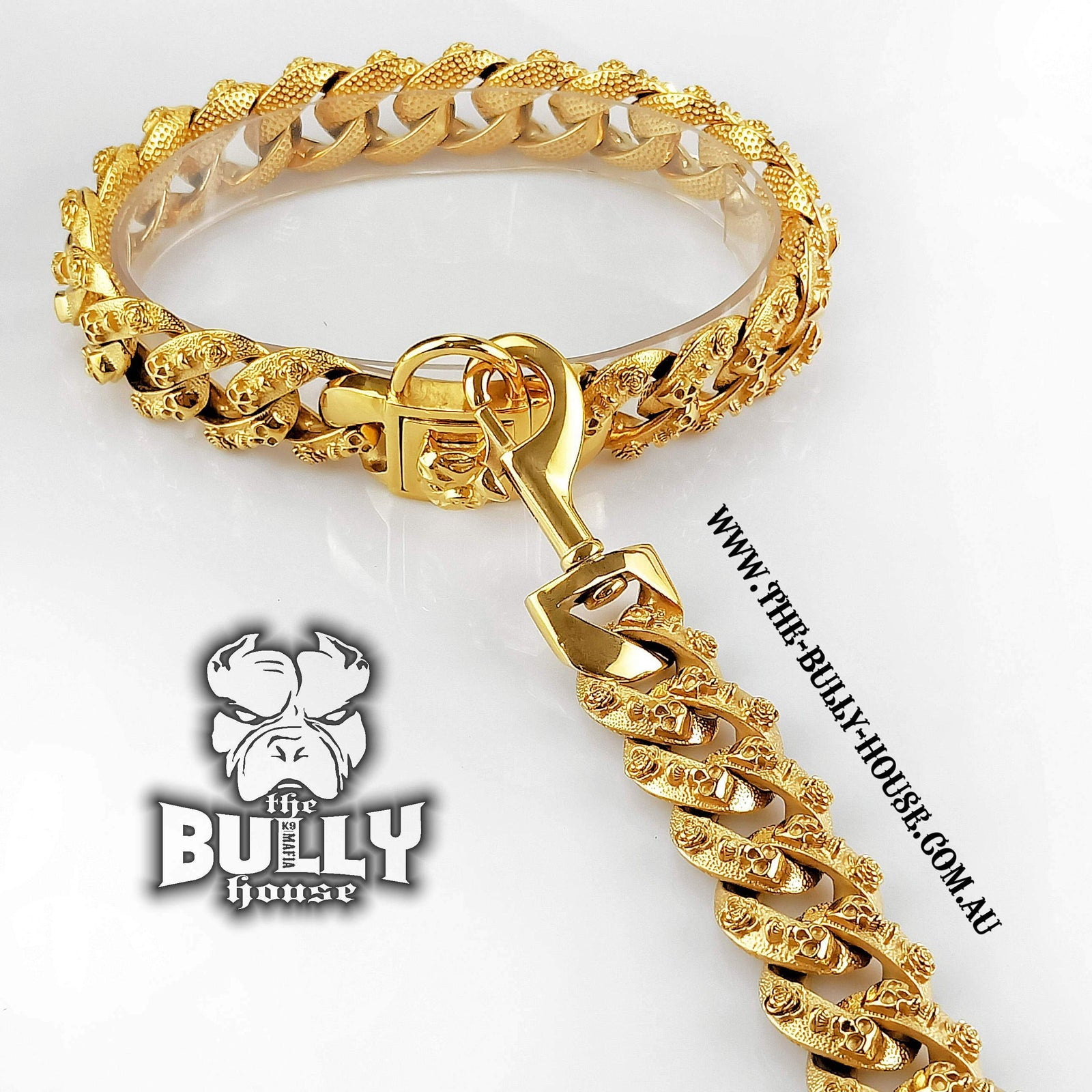 SKULL KING - LEASH - GOLD Collection - (Inc Free Post in Aust)