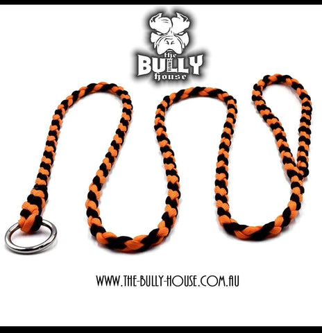LEATHER SHORT STRAP LEASH 30cm - By The Bully House -