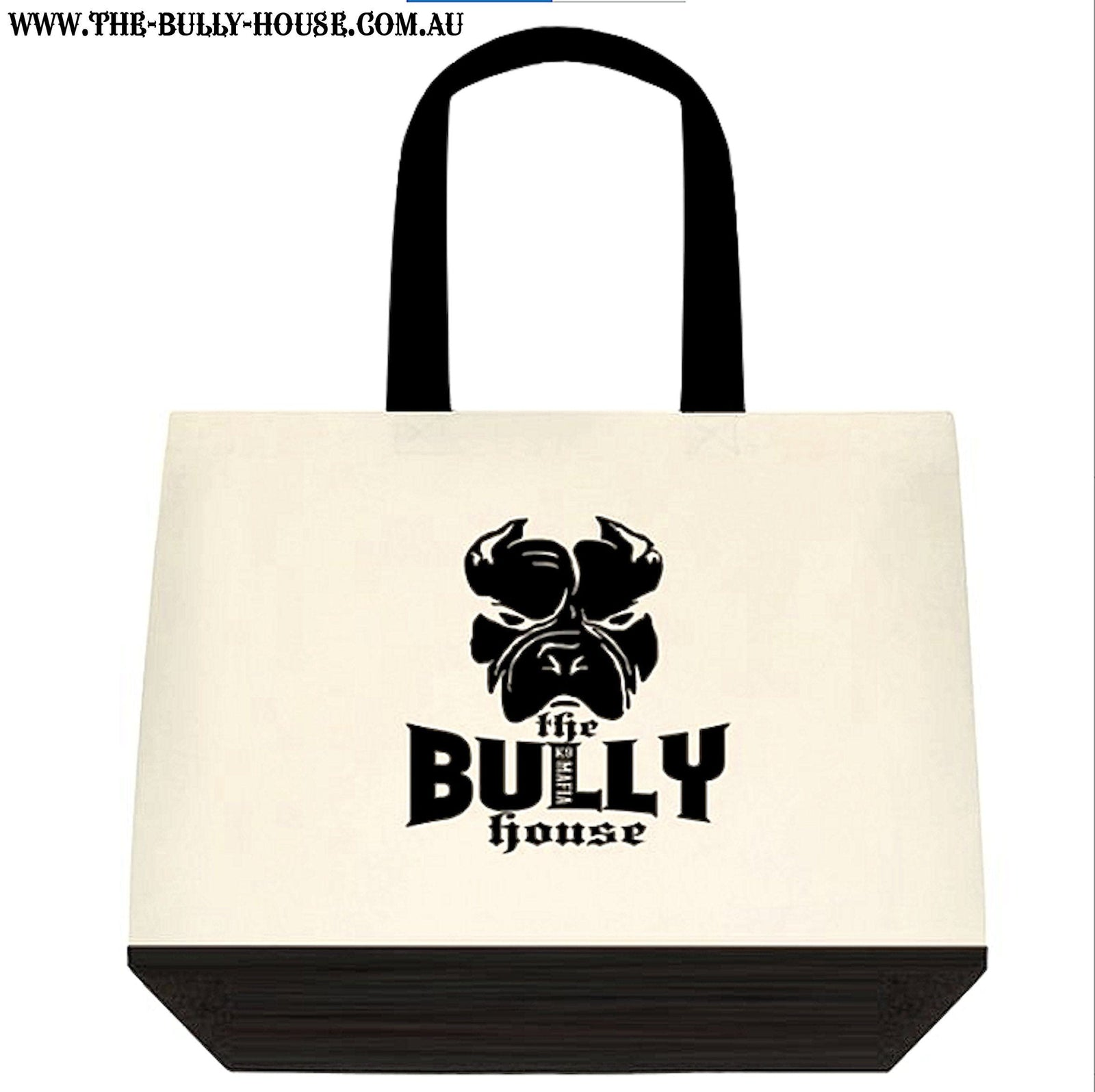 Cotton Tote Bag - by THE BULLY HOUSE - Original logo - 2 tone