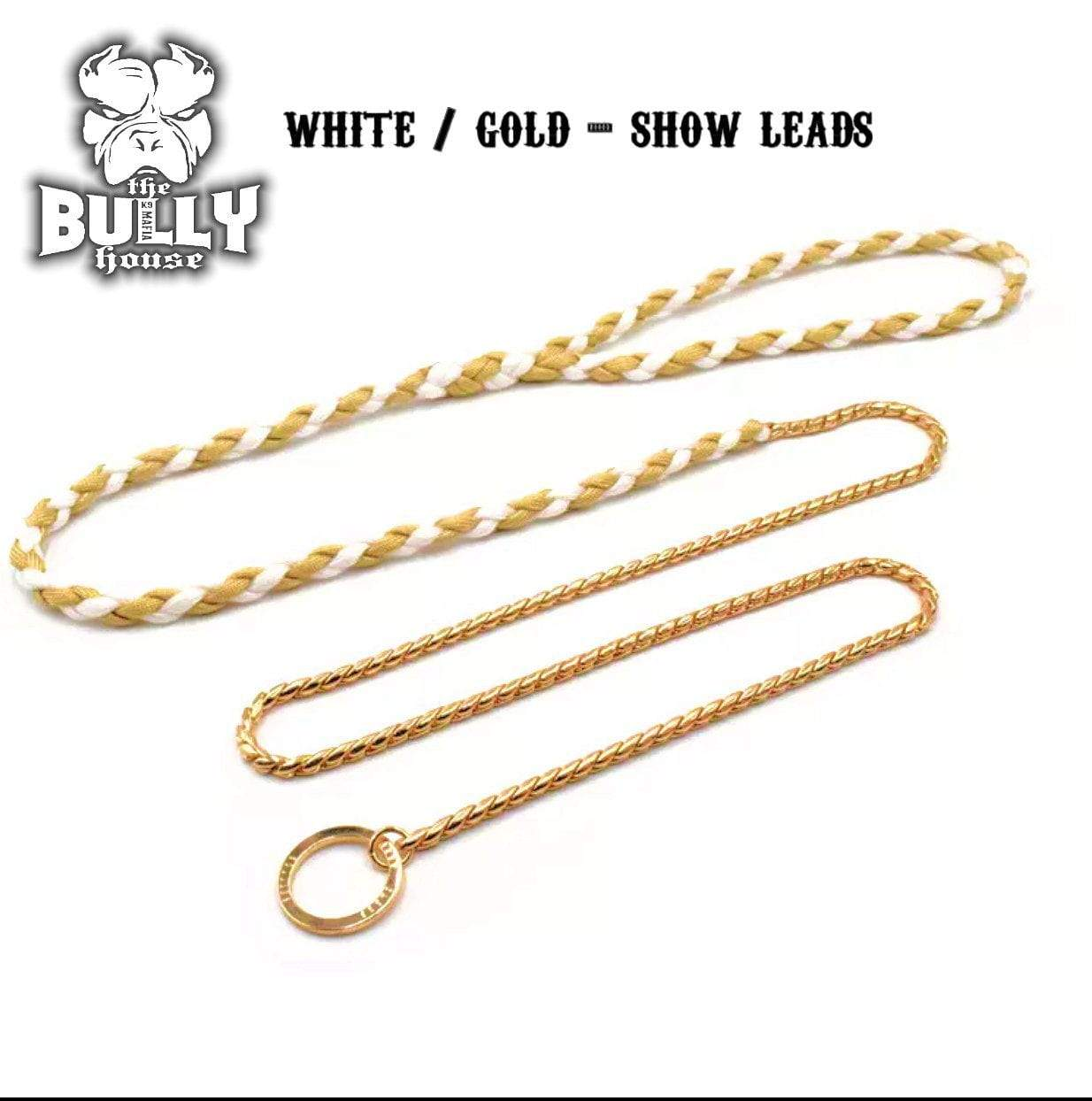 SHOW LEAD / LEASH (White and Gold)