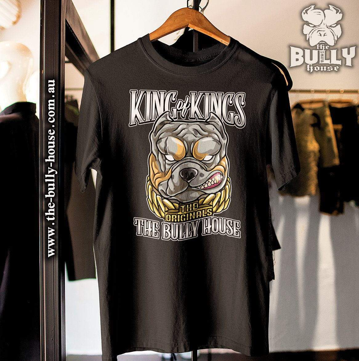 KING OF KINGS - T Shirt - White Edition - Black T-MENS or UNISEX