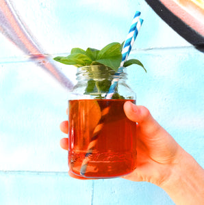Strawberry and Basil Shrub