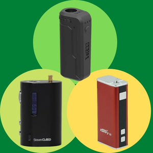 Three Different Brands of Box Mod Vapes
