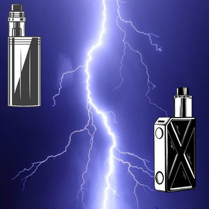 Lightening Bolt with Two Different Box Mod Graphics