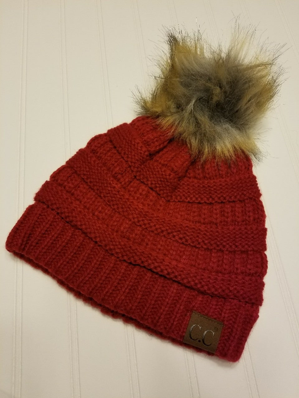 CC Beanie Hat with Pom