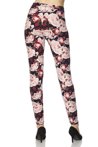 Plus Size Floral Leggings