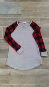 Buffalo Check Sleeve Top