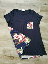 Navy Tunic with Floral Back