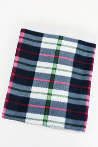 """CAN I JUST NAP UNTIL THE WEEKEND"" Printed Plaid Fleece Blanket"