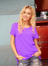 Scallop Short Sleeve Top