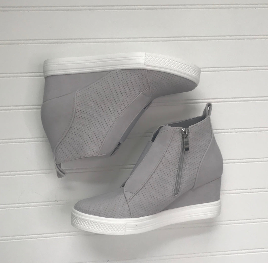 Gray Wedge Sneakers