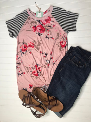 Blush knot top