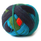 Lace Ball Blue Green Orange