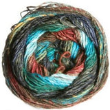 Silk Garden Sock Olive/Turquoise/Brown