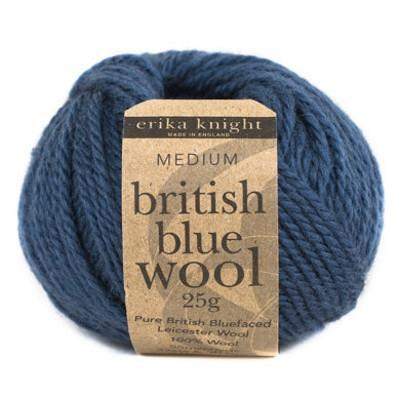 BRITISH BLUE WOOL Yarn - The Knit Studio