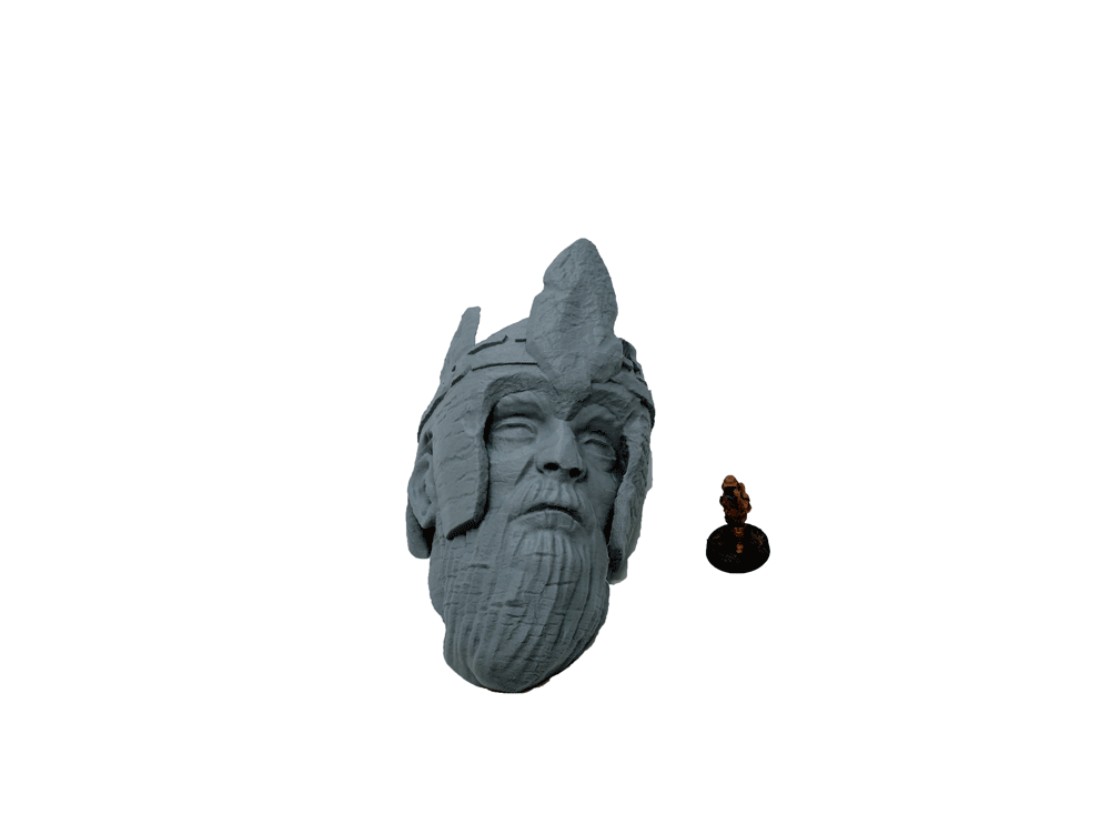 Ancient Ruins Head of a King
