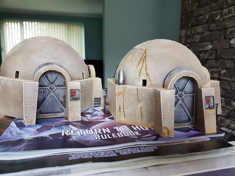 another customers painted star wars legion terrain that is our small desert home